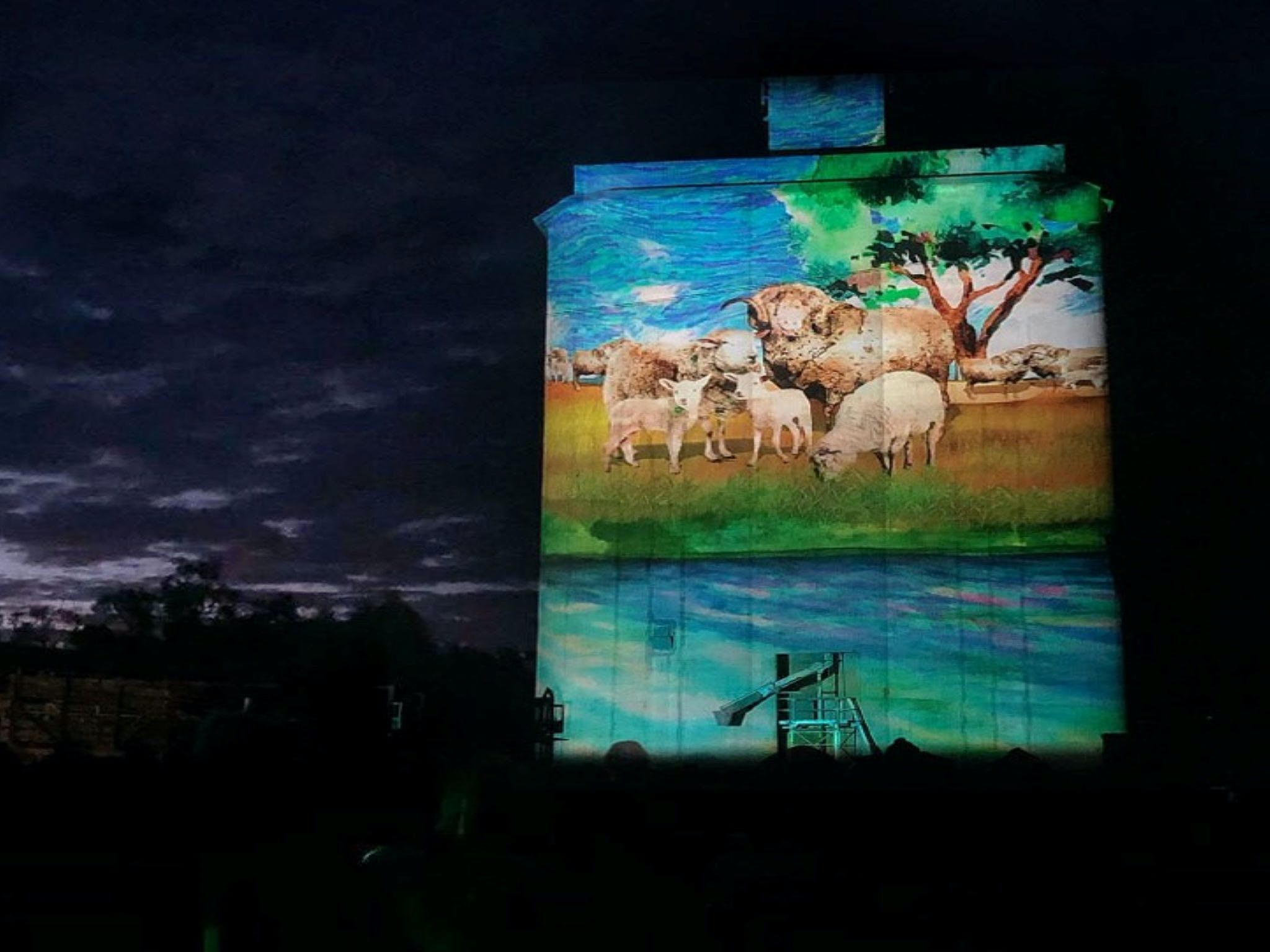 Quorn Silo Light Show - Accommodation Sydney