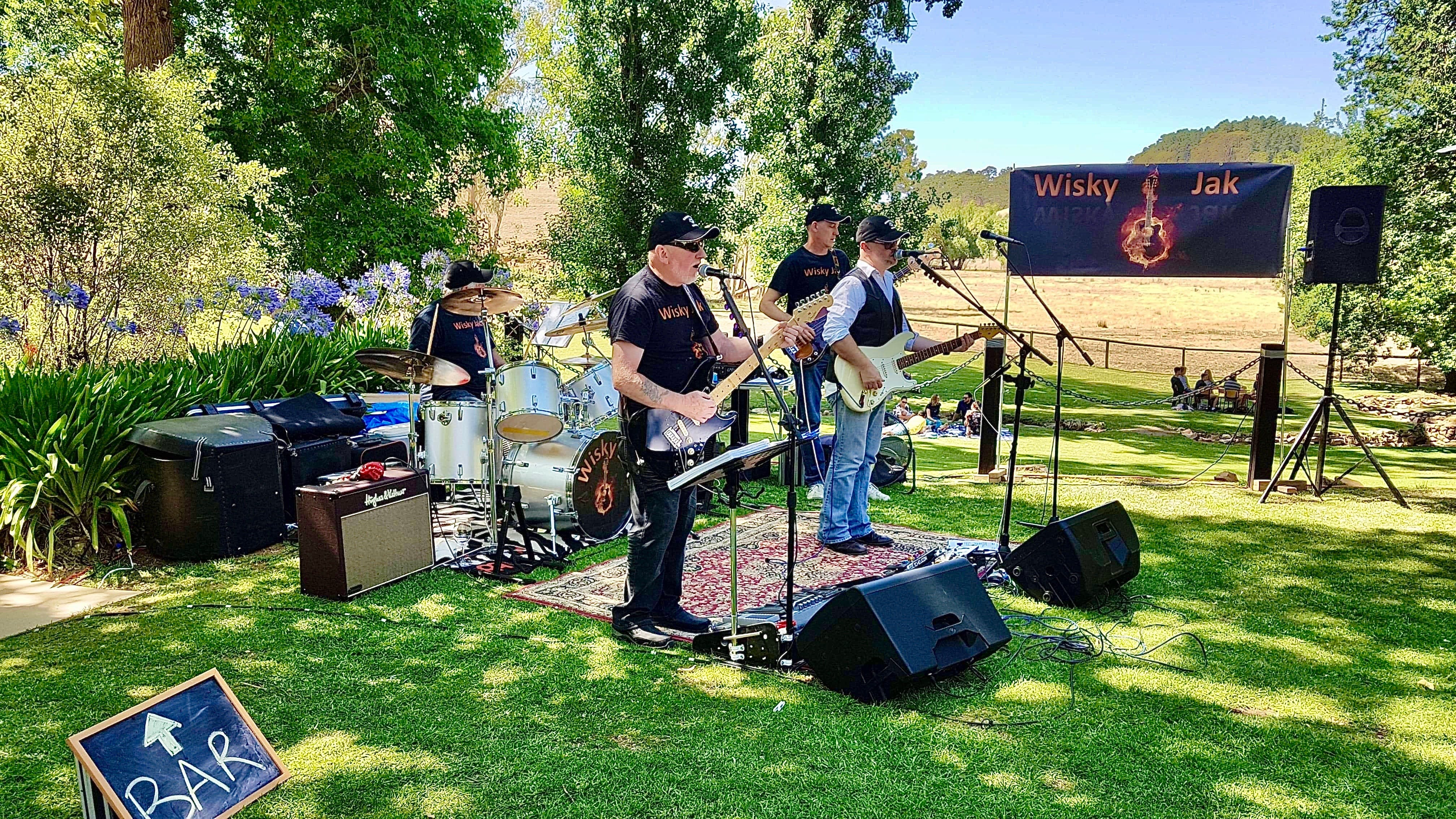 Angas Plains Wines Live in the Vines with the band -Wisky Jak - Accommodation Sydney