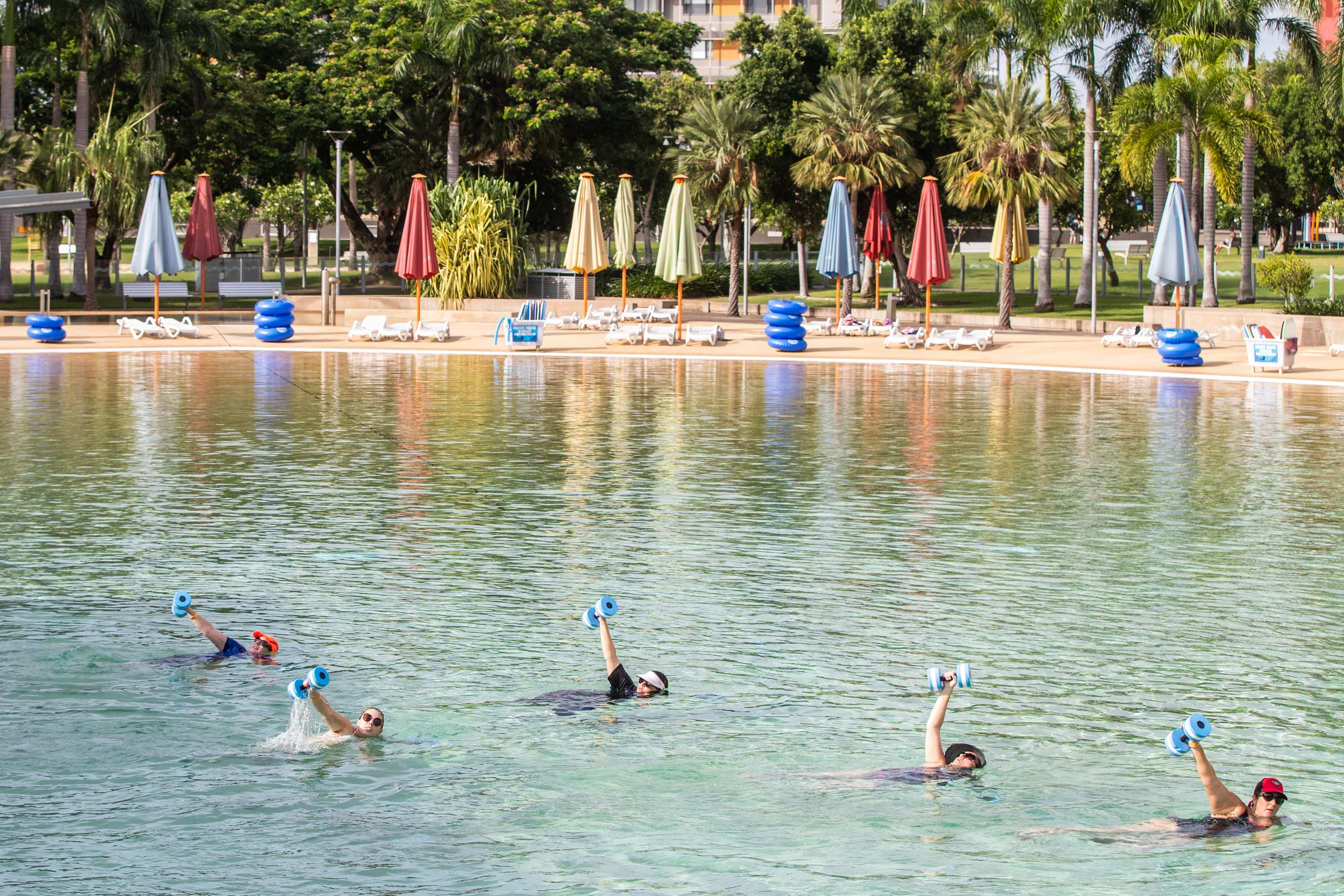 Aqua fitness in the Wave Lagoon - Accommodation Sydney