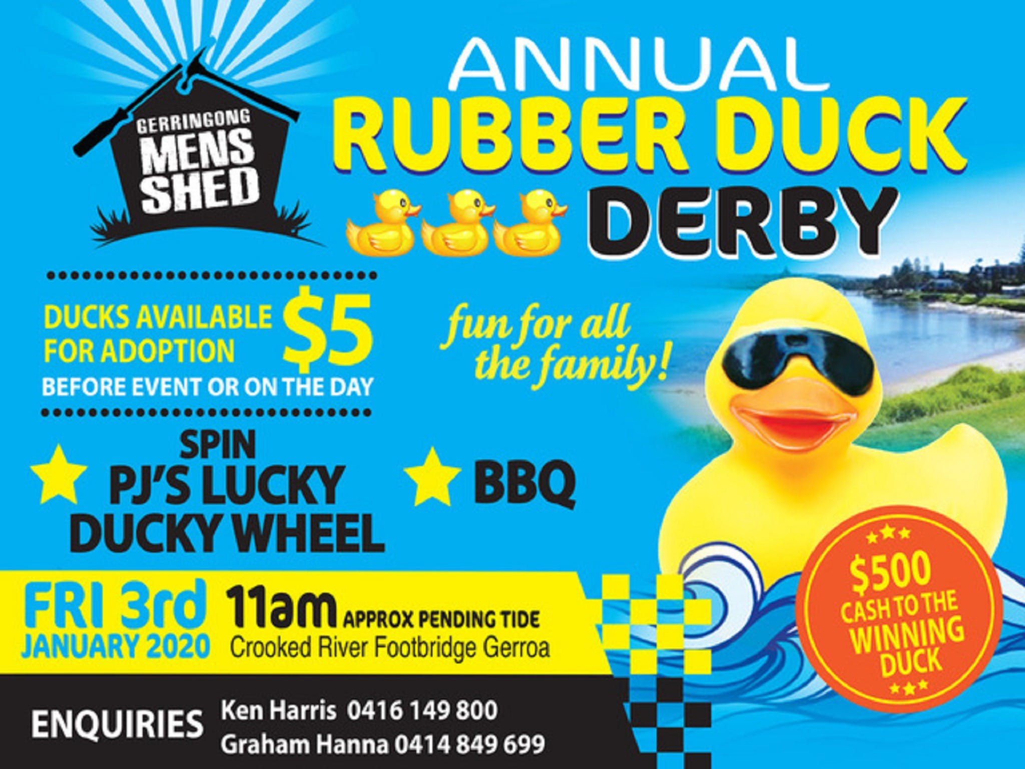 Gerringong Mens Shed Annual Duck Derby - Accommodation Sydney