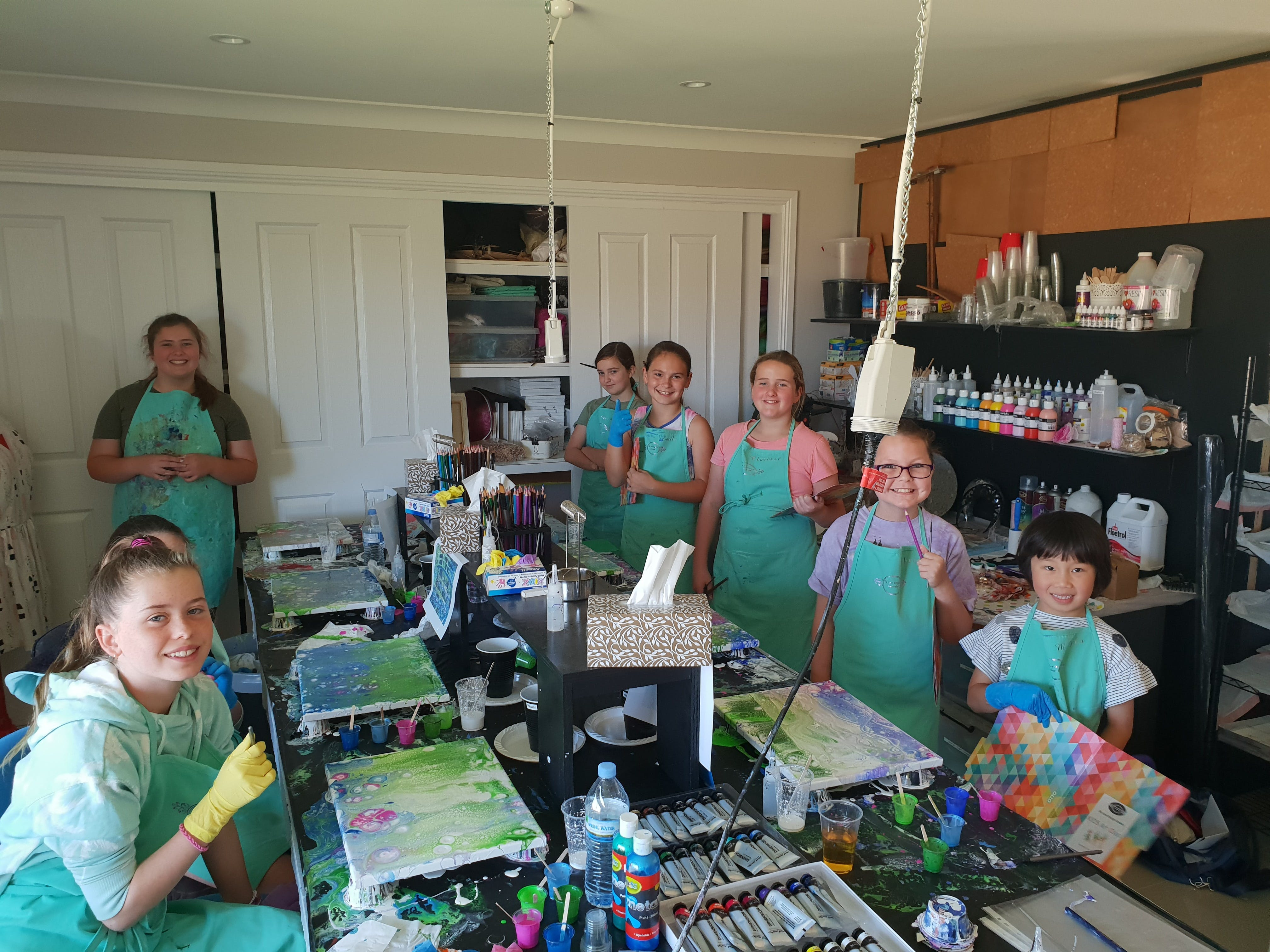 School holidays - Kids art class - Painting - Accommodation Sydney