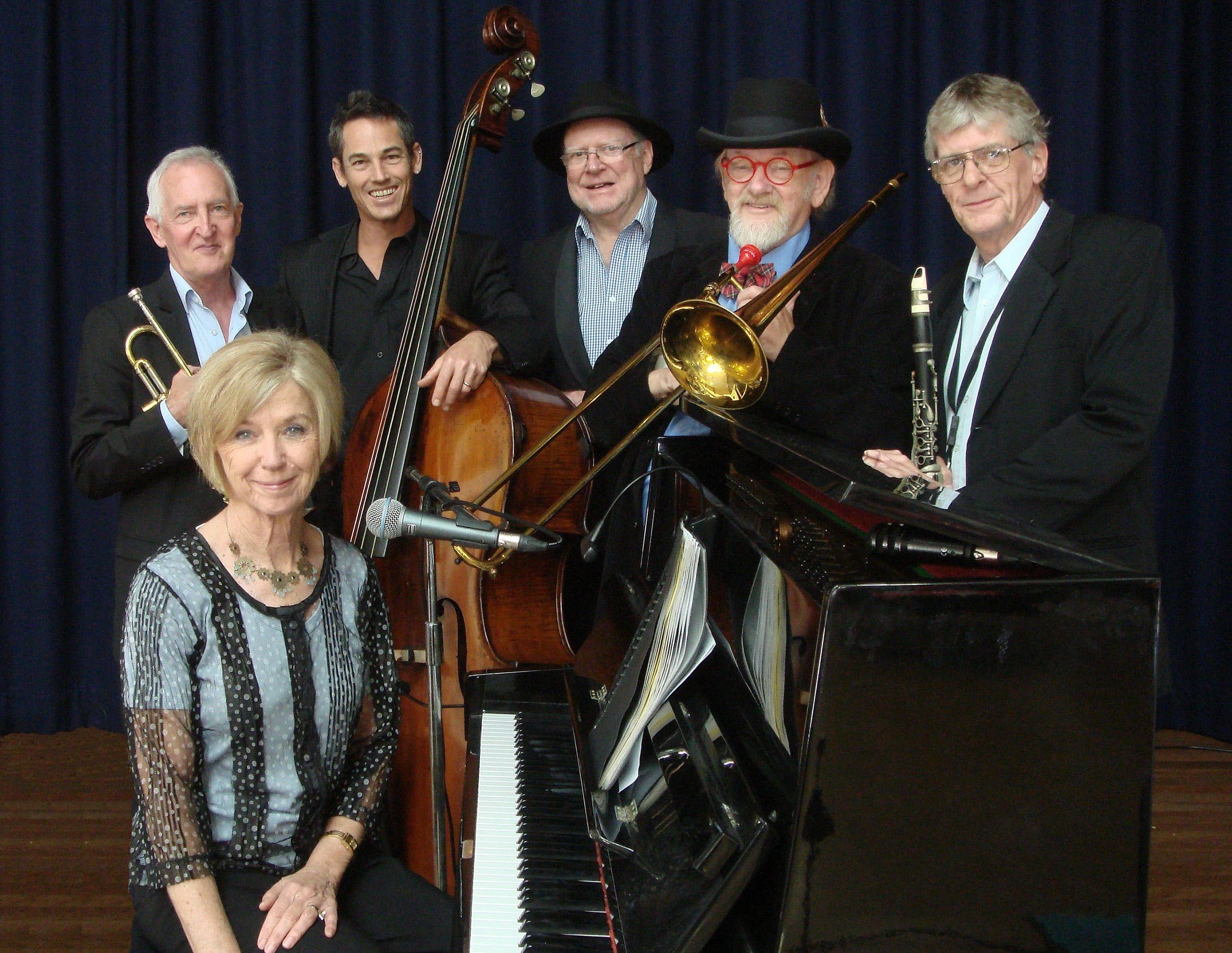 The Caxton Street Jazz Band in the Swigmore Hall at Robert Channon Wines - Accommodation Sydney